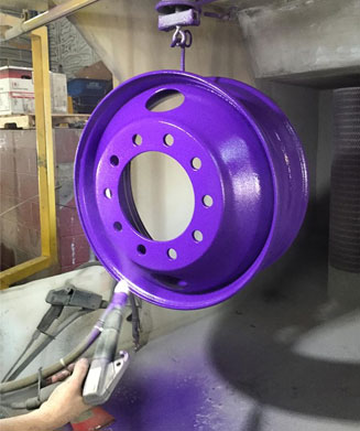 Syracuse Wheel Rim Powder Coating